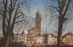 Jan Bos - Deventer vanuit het Westen