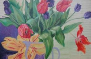 Irmgard Lamers - Tulpen in vaas